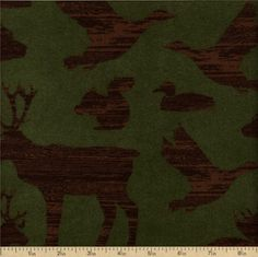 Timber Lodge Cotton Flannel Fabric - Nature ARLF-12617-268 by Beverlys.com