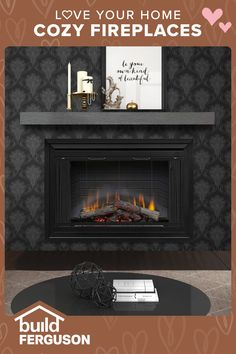Add warmth and charm to any room with a fireplace. Wall-mounted, freestanding, or built-in — electric, gas, propane, or wood-burning… find the perfect fireplace for your design. Stove Fireplace, Cozy Fireplace, Fireplace Ideas, Be Your Own Kind Of Beautiful, Love Your Home, Condo Decorating, Basement Decorating, Decorating Ideas, Home Decor Bedroom