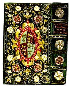 Tudor embroidered book cover
