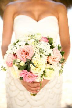 Blush pink bridal #bouquet | Photography: Melissa Green - www.melissagreenphotography.com  Read More: http://www.stylemepretty.com/destination-weddings/mexico-weddings/2014/04/30/tropical-puerto-vallarta-destination-wedding/