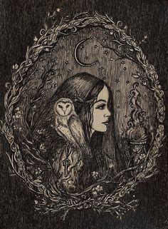 La prêtresse d'Hécate par ArtbyLadyViktoria sur Etsy