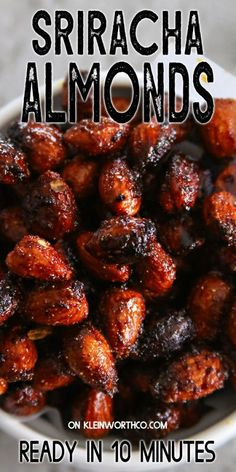 Flavored Almonds Recipe, Spiced Almonds, Roasted Almonds, Yummy Appetizers, Appetizer Recipes, Snack Recipes, Cooking Recipes, Savoury Recipes