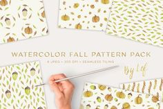 Fall Pattern Watercolor Pack  @creativework247