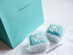 Tiffany petit fours! How cute would this be for a wedding shower?