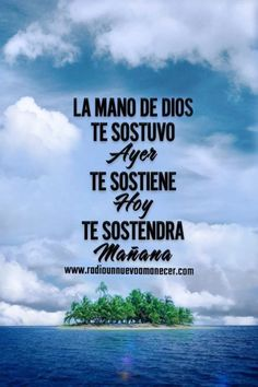 Gods Love Quotes, Quotes About God, Quotes About Strength, Quotes To Live By, Monday Morning Quotes, Good Night Quotes, Spanish Inspirational Quotes, Spanish Quotes, Christian Videos
