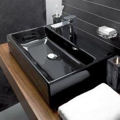 Memento by Villeroy & Boch - buy luxury Bathware in Brisbane with Elite Bathware & tiles. Bathroom Sink Design, Modern Bathroom Sink, Bathroom Sinks, Bathroom Ideas, Bathrooms, Dark Elements, Black Sink, Relaxing Bathroom, Uk Homes