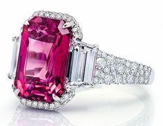 Emerald Cut Pink Sapphire Ring Martin Katz Jewels