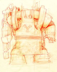 Jean Baptiste Vendamme #sketch #robot