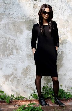 Black tunic. Black dress. Black. Women by MIAatelier on Etsy
