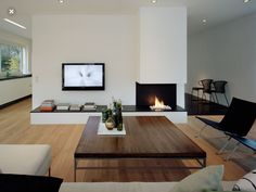Modern/ contemporary living room.