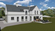 mod057 House Designs Ireland, New Builds, Modern Farmhouse, House Plans, Mansions, House Styles, Building, Board, Home Decor