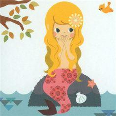 cute mermaid Tom Thumb Letter Paper cards 3