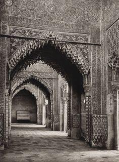 1922 Vintage SPAIN Granada Alhambra Palace Interior Architecture Art ~ HIELSCHER #Realism