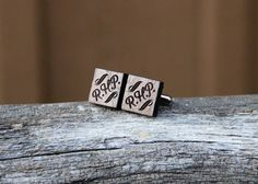 cufflinks personalized with your favorite monogram.  Handmade in Texas!  We offer FREE engraving/etching.
