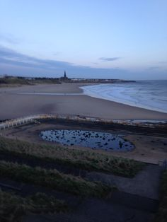 Tynemouth long sands beach 7.00 am Tuesday 25 th of February 2014