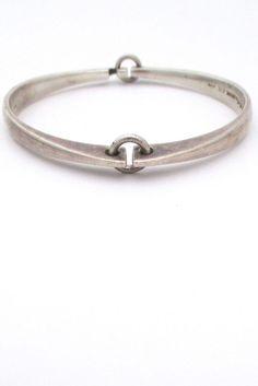 Hans Hansen - Silver Hinged Bracelet - Denmark