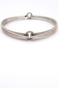f755b6c49 Hans Hansen - Silver Hinged Bracelet - Denmark Contemporary Jewellery,  Modern Jewelry, Wire Jewelry