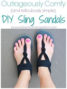 #DIY sling sandals - how cute are these?  - A Little Craft in Your Day #teencraft