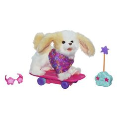 FurReal Friends offers pet play with lifelike pets that can't wait to play make you laugh out loud and love you back. Meet Trixie The Skateboarding Pup pet who loves to show off as she zips around ...