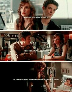 love Snowbarry chemistry ~ The Flash Barry & Caitlin The Flash 2, Barry And Caitlin, Best Tv Couples, The Flash Grant Gustin, Snowbarry, Dc Tv Shows, Fastest Man, Dc Legends Of Tomorrow, Supergirl And Flash