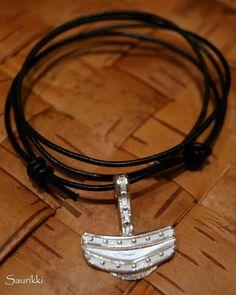 Viking style silver pedant
