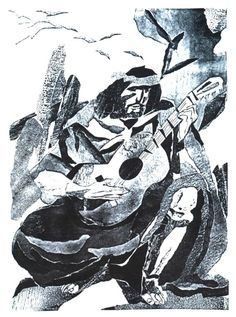 Alberto Breccia para el libro Martín Fierro
