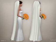 BEO Creations: Wedding veil 05 • Sims 4 Downloads