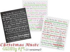 The Scrap Shoppe: Christmas Music Subway Art Prints {3 Versions!}
