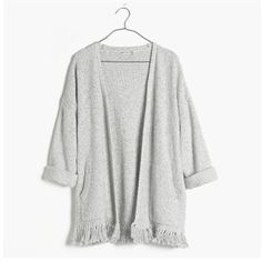 Madewell Memento Fringe Cardigan Amazing cardigan with fringe on the bottom! Really unique and fun piece! Worn once - in flawless condition! Currently being sold in stores and online! First picture represents color being sold! Madewell Sweaters Cardigans