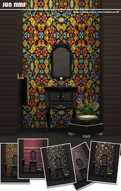 My Sims 4 Blog: Wallpaper and Floors by Jun
