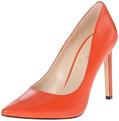 Nine West Women's Tatiana Leather Dress Pump, Red/Orange Leather, 10.5 M US - http://all-shoes-online.com/nine-west/10-5-b-m-us-nine-west-womens-tatiana-leather-dress-27