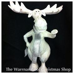 Moose on the loose ! #warrnambool #warrnamboolchristmasshop #christmas #nice #moose #reindeer #cool #shop3280 #white by warrnambool_christmas_shop