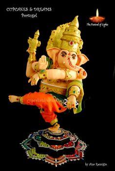 Ganesh Diwali cake