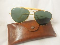 296ded42a5 NOS B amp L RAY BAN USA GLASS POLARIZED AVIATOR GENERAL BAUSCH  amp  LOMB  VINTAGE