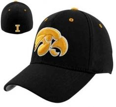 timeless design 49e68 2aee0 Iowa Hawkeyes Black Basic Logo Flex Fitted Cap  19.95 NOW  11.99 Save  40%  off