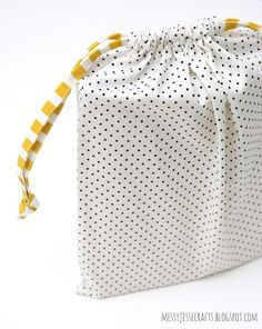Easy Sew Draw String Bag by MessyJesse