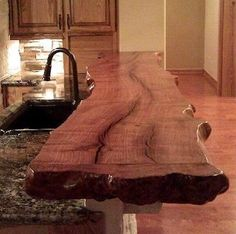 A beautiful wooden counter for your kitchen. buypalletfurniture.com