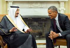 President Barack Obama, right, meets with King Salman of Saudi Arabia in the Oval Office of the Whit... - AP Photo/Evan Vucci