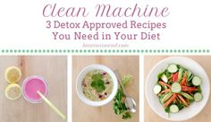 Clean Machine: 3 Detox Approved Recipes to Have Your Body Feeling Brand New Again i like the smoothie and the soup recipe Healthy Tips, Healthy Snacks, Healthy Recipes, Detox Cleanse For Weight Loss, Quinoa, Nutrition, Detox Recipes, Detox Meals, Detox Foods