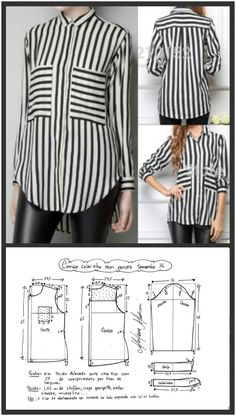 Clothing Patterns Shirt Patterns For Women Blouse Patterns Blouse Designs Free Sewing Sewing Patterns Free Sewing Tutorials Sewing Blouses Top Pattern Dress Sewing Patterns, Blouse Patterns, Clothing Patterns, Blouse Designs, Skirt Patterns, Coat Patterns, Make Your Own Clothes, Diy Clothes, Shirt Patterns For Women