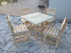 Garden Pallet Table & Chairs Pallet Benches, Pallet Chairs & Stools Pallet Desks & Pallet Tables