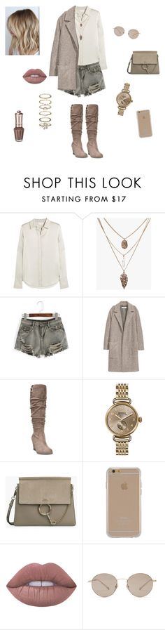 """Untitled #33"" by raw-s ❤ liked on Polyvore featuring Chloé, WithChic, Dr. Scholl's, Shinola, Agent 18, Lime Crime, Gucci and Accessorize"