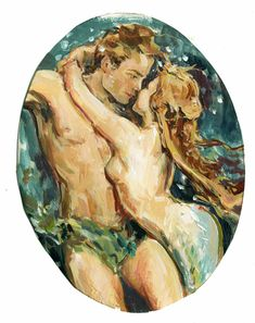 Illustrating and painting since Claire Fletcher lives and works in Hastings. Mermaid In Love, Mermaid Man, Mermaid Under The Sea, The Little Mermaid, Fantasy Mermaids, Mermaids And Mermen, Art Koi, Romance Art, Mermaid Pictures