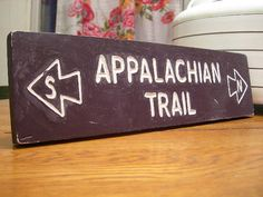 HandCarved Appalachian Trail Sign  North/South by TrailSigns, $50.00