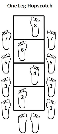Agility Ladder - One Leg Hopscotch