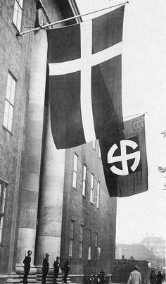 Headquarters of the Schalburg Corps in Copenhagen, Denmark, c.1943.