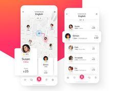 png by Radek Skrzypczak Ios App Design, Web Design, Mobile Ui Design, Interface Design, User Interface, App Map, Mobile App Ui, Ui Design Inspiration, Maps