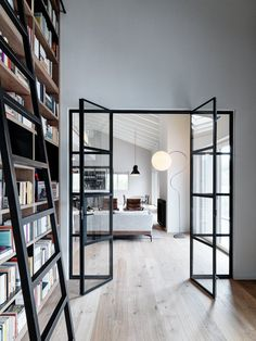 Things That You Need To Know When It Comes To Industrial Decorating You can use home interior design in your home. Even with the smallest amount of experience, you can beautify your home. Steel Doors And Windows, Big Doors, Black Windows, Black Doors, Design Vitrail, Home Interior Design, Interior Architecture, Minimalist Home, Home And Living