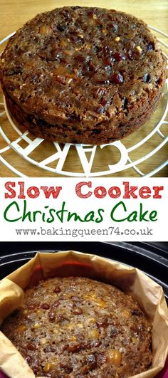 Slow Cooker Christmas Cake