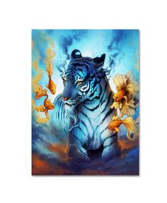 Trademark Art 'Tiger Fish' Graphic Art Print on Wrapped Canvas Size: Art And Illustration, Fish Graphic, Graphic Art, Tiger Fish, Art Graphique, Canvas Prints, Art Prints, Artist Canvas, Fisher
